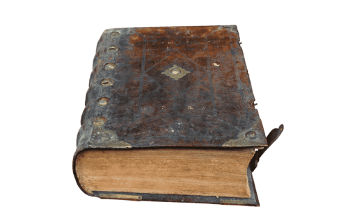 Altes staubiges Buch, geschlossen